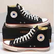 Converse All Star Bota Negra Roja! Originales