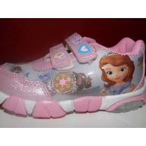 Zapatillas De Personajes Disney C/ Luz Liquidacion! Leer!