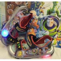 Sandalias Con Luces Toy Story +bolsa+libro Pintar+stickers