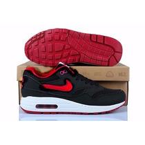Zapatillas Nike Air Max 90 Negro Rojo Dama. Nuevas En Caja.