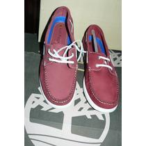 Unicos Zapatos Nauticos Rojos Hush Puppies Nro 41