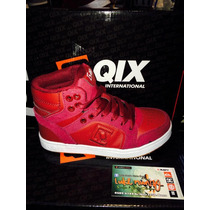 Zapatilla Qix Hollywood Burgundy De Niño*zona Munro*