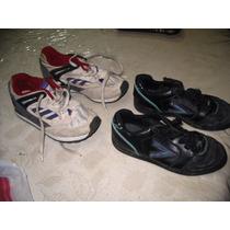 Lote Botines Cuero Mitre Papi Football 32 Zapatillas Adidas