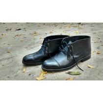 Zapato Bota Cuero Hombre Media Caña Joselo Calzados
