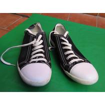 Zapatillas Urbanas Lona Color Negro Geox Nro.43