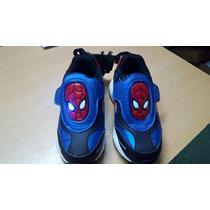 Zapatillas C/ Luces Spider-man Originales
