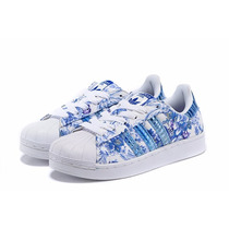 Zapatillas Adidas Originals Superstar 2016! Floreadas!