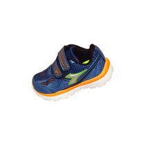 Zapatillas Diadora Cirrus Baby Velcro 21 Al 28 - Lanus