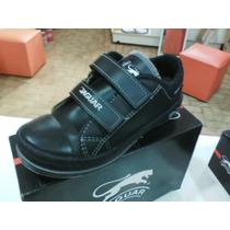 Zapatillas Jaguar Colegial Art420 Abrojo 34/40 Blanca Negra