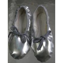 Zapatillas De Danza Raso - Doradas - Plateadas
