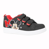 Zapatillas Disney Amigos Parche Mickey Velcro