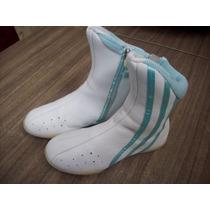 Botitas Adidas Importadas Para Niña Blanco/celeste N°31