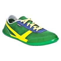 Zapatillas De Tela Many Mesh Verde Y Amarillo Newfeel