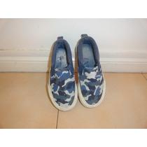Exelente Par De Zapatillas Nauticas Camufladas En Azules