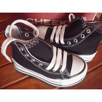 Zapatillas Botitas Con Palataforma Nuevas Cheeky (niñas)