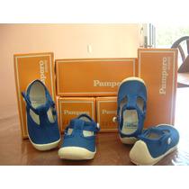 Zapatillas Guillerminas Pampero Para Niñas Azules