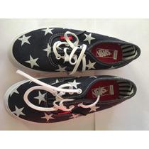 Zapatillas Vans Azules Con Estrellas Blancas