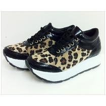 Zapatilla Para Mujer Con Plataforma.- Modelo Sneakers