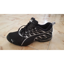 Zapatillas Puma Negras Con Gris Plata