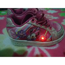 Zapatillas Disney Con Luz Minnie Adnice.preciosas!!