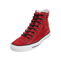 Zapatillas Levis Mujer Gamuzadas Rojo Negro Todos Los Talles