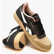 Zapatillas Reebok Modelo Classic Light Ultralite Black/beige