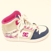Zapatillas Botitas Dc Para Nena Nº 4y Rosa Con Brillitos