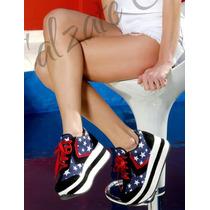 Sneakers Con Plataforma ...simil Sark...