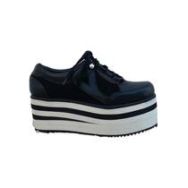 Zapatillas Mujer Zapatos Cuero Paradisea Acordonado Mochilas