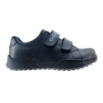 Zapatilla De Cuero Kickers Con Doble Velcro