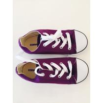 Zapatilla De Nena Converse All Star. Color Violeta. Nuevas