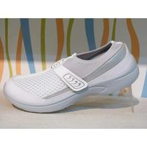 Zapatillas Urbanas Livianas Con Neoprem Super Comodas Blanca