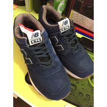 Zapatillas New Balance 574 Gamuzadas Azules