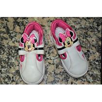 Unicas Zapatillas Adidas Minnie Con Abrojo