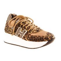 Zapatillas Sneakers Con Plataforma Mujer Animal Print - Qez