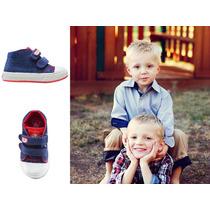 Zapatillas Botitas Niños Jeans Con Frente Escoces Grim´s