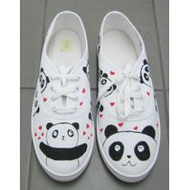 Zapatillas Panchas Personalizadas Talle 38 Panda