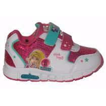 Zapatillas Con Luces Barbie Originales Footy Velc Dreams