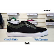 Zapatillas Airwalk Mode Negras / Gris Skate Urbanas