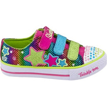 Zapatillas Niñas Con Luces Y Colores !!! Skechers !!!