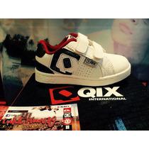 Zapatilla Qix Logo Strap Blanca C/ Velcro Baby *zona Munro*