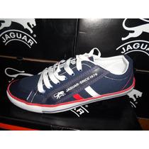 Zapatillas Jaguar Con Cordones De Lona.