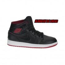 Zapatillas Nike Jordan Air 1 Mid Black Red Hombre