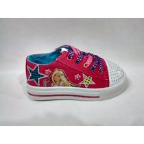 Disney Zapatillas De Lona De Barbie Con Luz Talles 23 Al 30