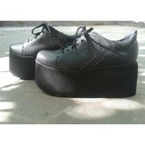 Zapatillas Con Plataforma Negras