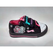 Disney Zapatillas Lona Monster High Con Luz Talles 24 Al 31