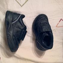 Zapatillas Topper Del Colegio Negras, Con Abrojo