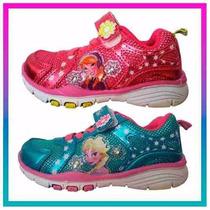 Zapatillas Frozen Elsa Anna Disney Con Luz Mundo Moda Kids!