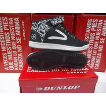 Zapatillas Botita Dunlop Perfection Hi Velcro Mujer Original