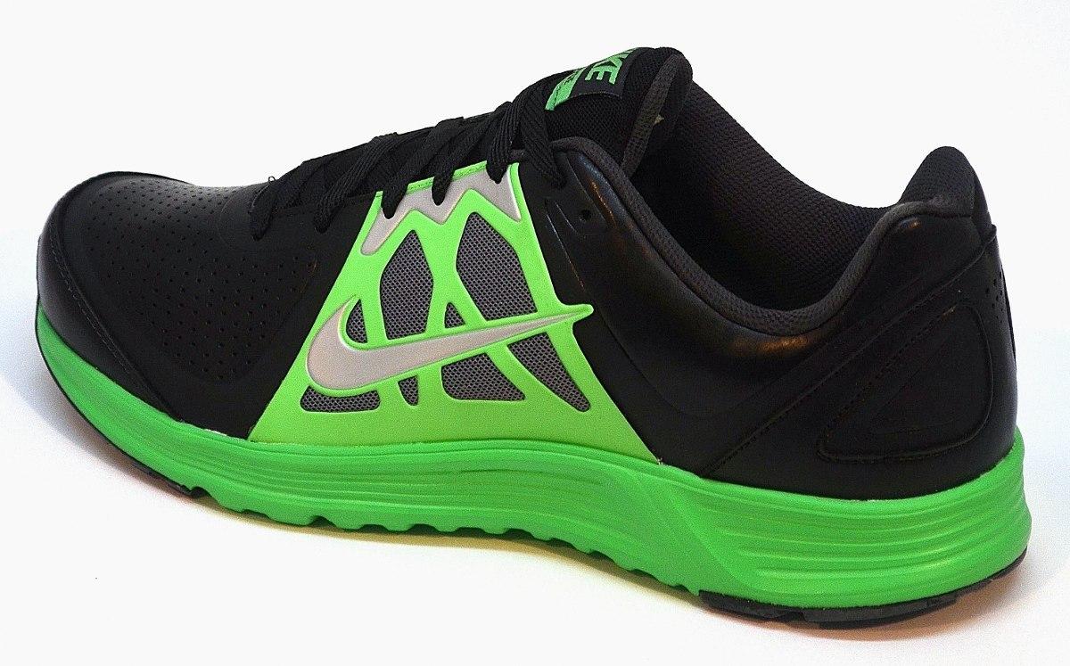 zapatillas nike negras con verde